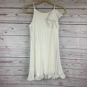 Zunie girls pleated white dress Sz 14